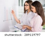 two beautiful office workers... | Shutterstock . vector #289119797