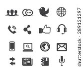 social media icons vector | Shutterstock .eps vector #289121297
