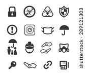 protection icons set  vector | Shutterstock .eps vector #289121303