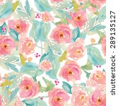 tropical modern watercolor... | Shutterstock . vector #289135127