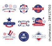 fourth of july icon set. eps 10 ... | Shutterstock .eps vector #289137503