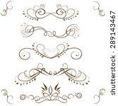 vector set of calligraphic... | Shutterstock .eps vector #289143467