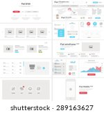 flat website  mobile ui kit for ...