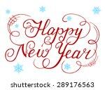 calligraphic text handmade... | Shutterstock .eps vector #289176563
