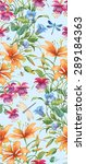 floral composition of different ... | Shutterstock . vector #289184363