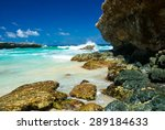 'surf at boca prins' on the... | Shutterstock . vector #289184633