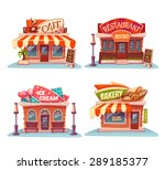 cafe  restaurant  ice cream... | Shutterstock .eps vector #289185377