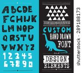 hand drawn hipster typeface and ... | Shutterstock .eps vector #289188173