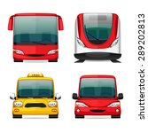 colorful transportation icons... | Shutterstock .eps vector #289202813