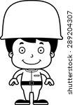 a cartoon soldier boy smiling.   Shutterstock .eps vector #289204307