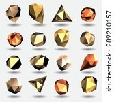 golden diamond polygon triangle ... | Shutterstock .eps vector #289210157