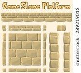 Vector Stone Platform For Games