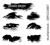 vector set of grunge brush... | Shutterstock .eps vector #289221887