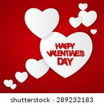 happy valentines day card. ... | Shutterstock . vector #289232183