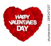 happy valentines day card. ... | Shutterstock . vector #289247237