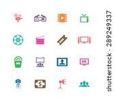 cinema icons universal set for... | Shutterstock .eps vector #289249337