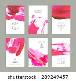 hand drawn collection of... | Shutterstock .eps vector #289249457