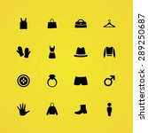 clothes icons universal set for ... | Shutterstock .eps vector #289250687