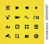 cinema icons universal set for... | Shutterstock .eps vector #289253987