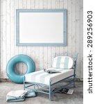 mock up poster frame in summer... | Shutterstock . vector #289256903
