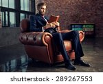 young handsome businessman with ... | Shutterstock . vector #289267553