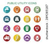 public utility long shadow...   Shutterstock .eps vector #289285187