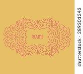 hand drwan emblem abstract... | Shutterstock .eps vector #289301243