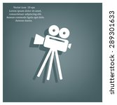 video camera icon vector | Shutterstock .eps vector #289301633