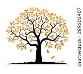Vector Oak Autumn Tree