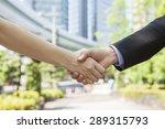 handshake in business district | Shutterstock . vector #289315793