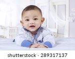 portrait of joyful baby with a... | Shutterstock . vector #289317137