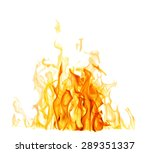 yellow flames isolated on white ... | Shutterstock . vector #289351337