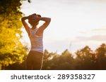 free happy woman enjoying... | Shutterstock . vector #289358327