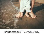 Father And Baby Feet Walking O...