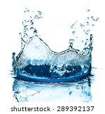 water splash isolated on white... | Shutterstock . vector #289392137