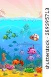 vector cartoon underwater... | Shutterstock .eps vector #289395713