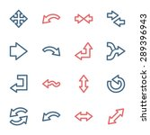arrows web icons set | Shutterstock .eps vector #289396943