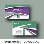 golf club business card vector... | Shutterstock .eps vector #289399643