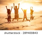 group of happy young people... | Shutterstock . vector #289400843