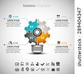 vector illustration of business ... | Shutterstock .eps vector #289404347