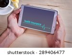 tablet pc with text health... | Shutterstock . vector #289406477