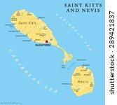 saint kitts and nevis political ... | Shutterstock .eps vector #289421837