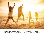 group of happy young people... | Shutterstock . vector #289426283