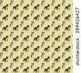 dog pattern american... | Shutterstock . vector #289426427