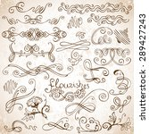 vector set of  calligraphic... | Shutterstock .eps vector #289427243