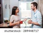 spending a nice coffee break.... | Shutterstock . vector #289448717