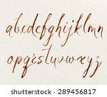 handwritten alphabet written... | Shutterstock .eps vector #289456817