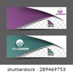 real estate header   banner... | Shutterstock .eps vector #289469753