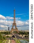 aerial view of the eiffel tower ... | Shutterstock . vector #289470383