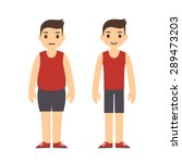 cute cartoon man in sport...   Shutterstock .eps vector #289473203